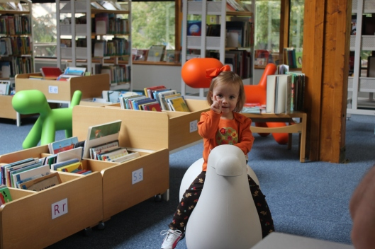 Brooklyn at the library.
